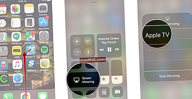 Så här aktiverar du skärmspegling i iOS 11