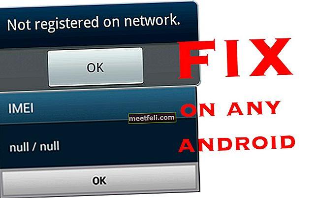 Відновлення / відновлення Galaxy Null IMEI # та виправлення, не зареєстровані в мережі